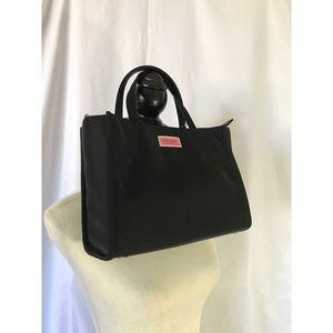NWT Kate Spade SAM Medium Nylon Satchel Black Bag